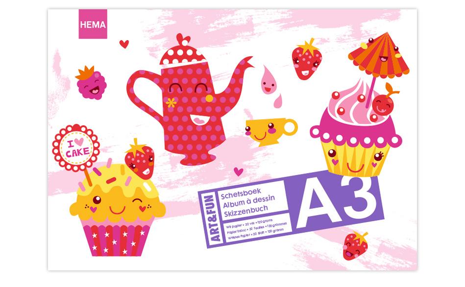 HEMA - schetsboek Cup Cakes