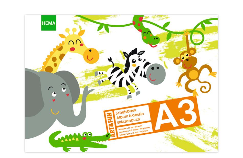 HEMA - schetsboek Jungle