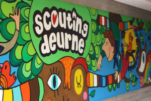 Scouting Deurne - Muurschildering