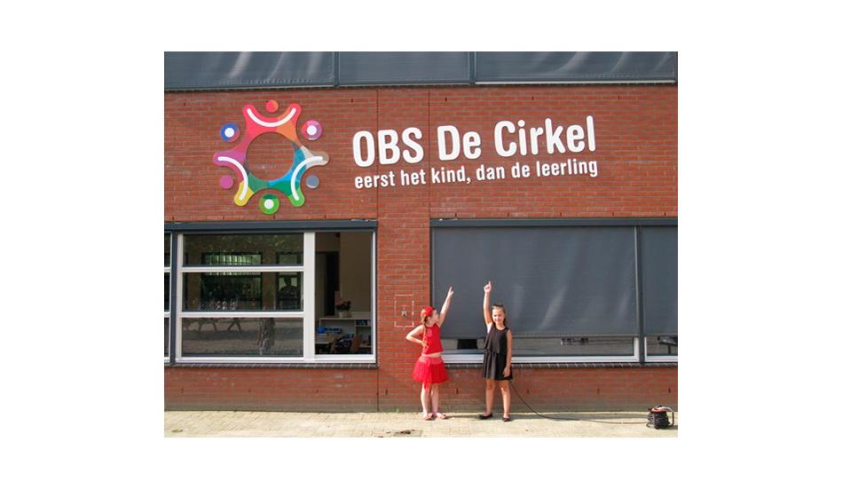 OBS De cirkel - belettering