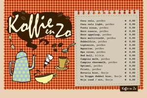 Koffie en zo - menu standaards