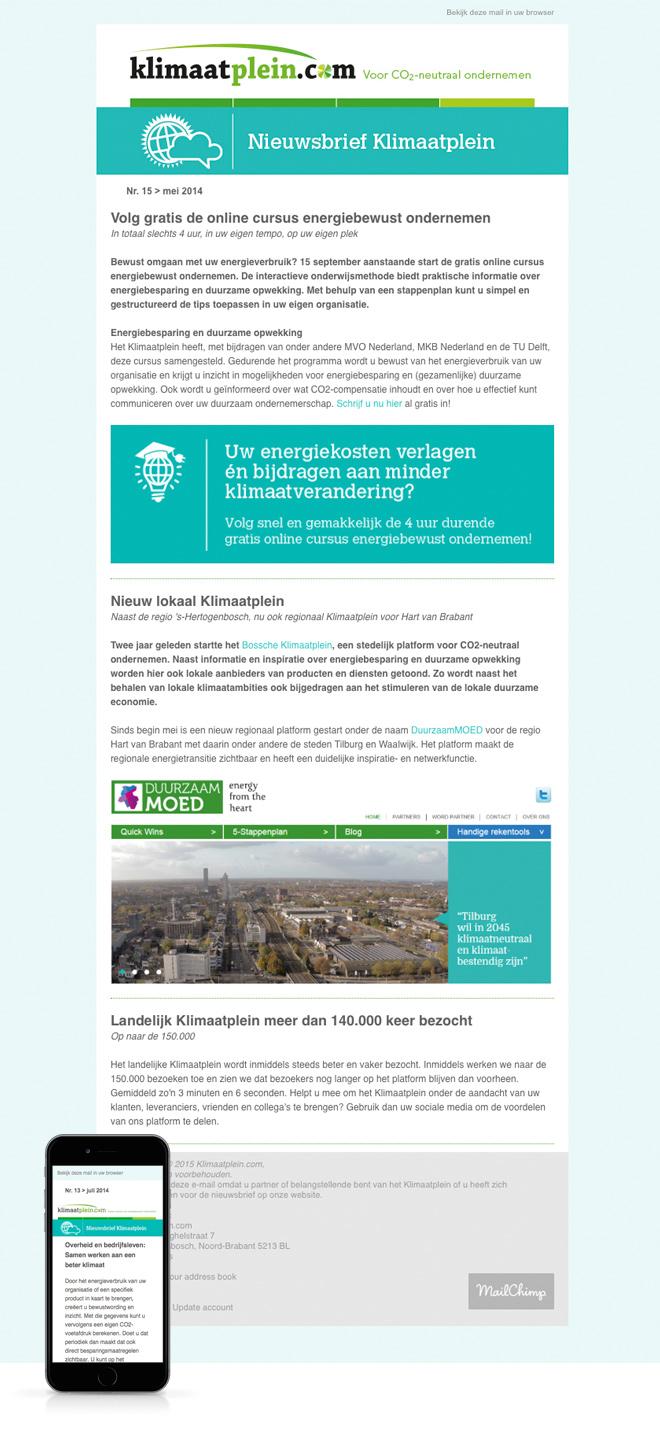 Nieuwsbrief - Klimaatplein